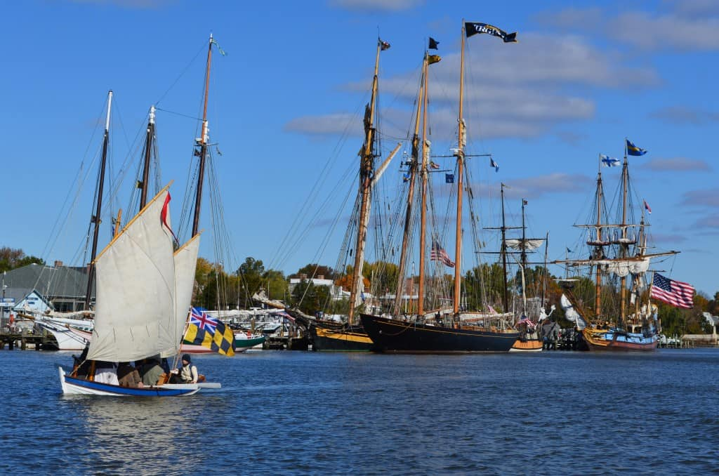 Downrigging Weekend Fleet Gathered on the Chestertown Waterfront
