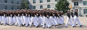US Marine Corp silent drill performance