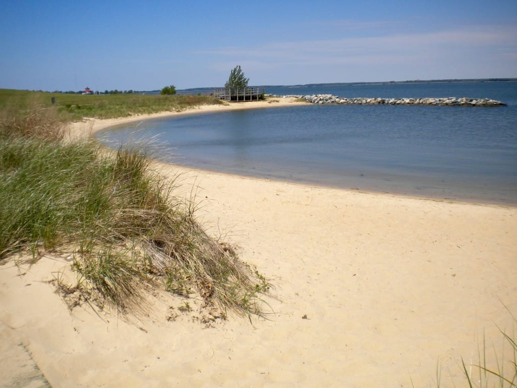 Beach area at Cambridge Visitor Center at Sailwinds Park