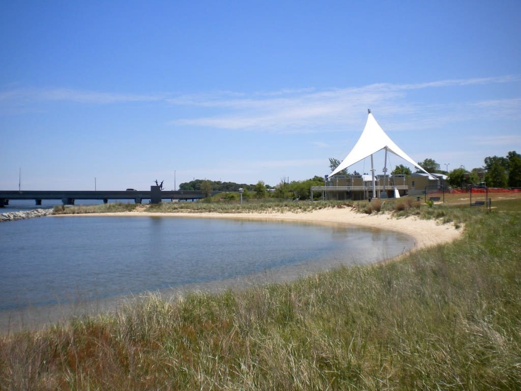 Beach area at Cambridge Visitor Center