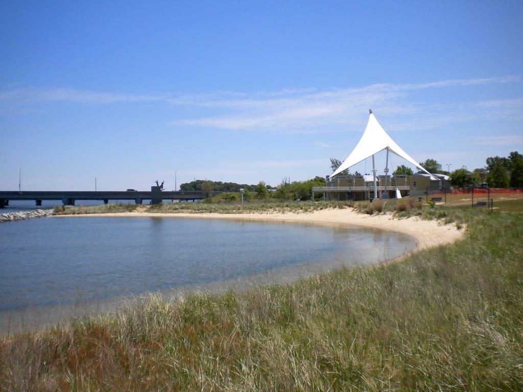 Beach area at Cambridge Visitor Center