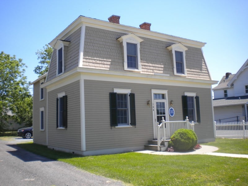 Restored waterman's house in Cambridge, Maryland