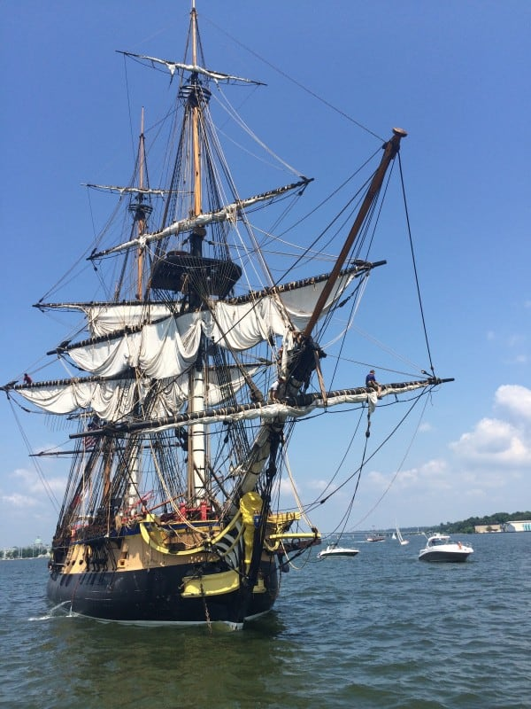 L'Hermione tall ship - lede