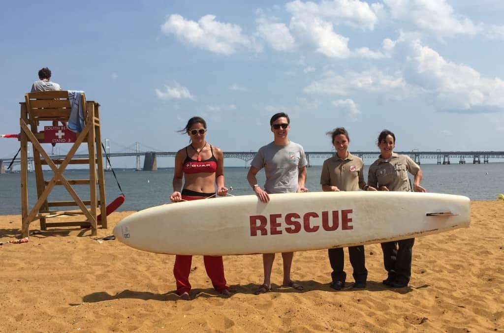 Sandy Point beach lifeguards