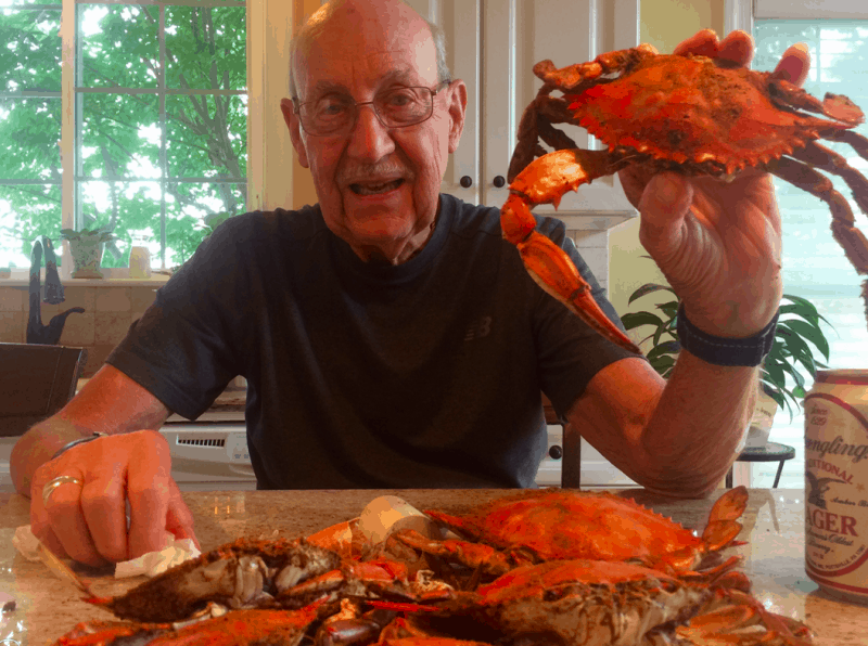 Albert Oster with steamed crabs