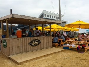 One of the several bars on the beach at Lowes Wharf Marina Inn, Sherwood, Maryland