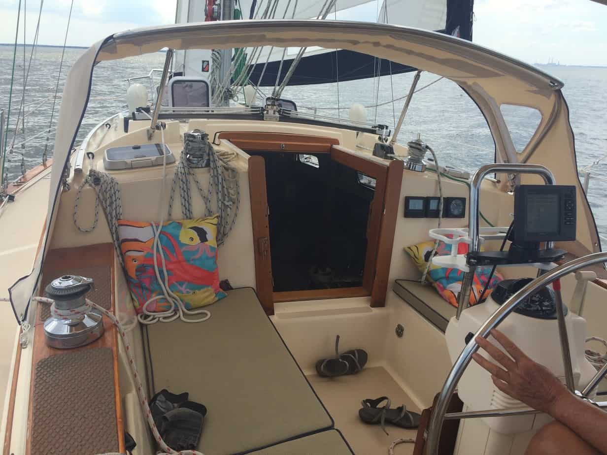 This is how the deck looks when we're under sail