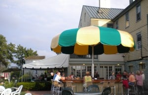 Umbrella bar at Bayard House