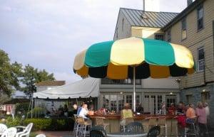Umbrella bar at Bayard House