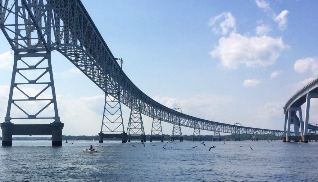 fishing under the Chesapeake Bay bridge