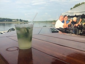 A mojito at the Bayard House umbrella bar