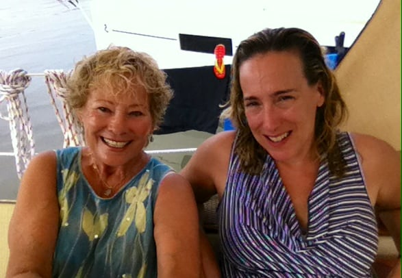 Patricia & Cynthia after sailing
