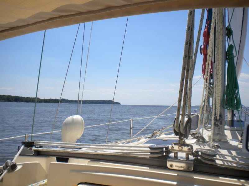 View when at the helm
