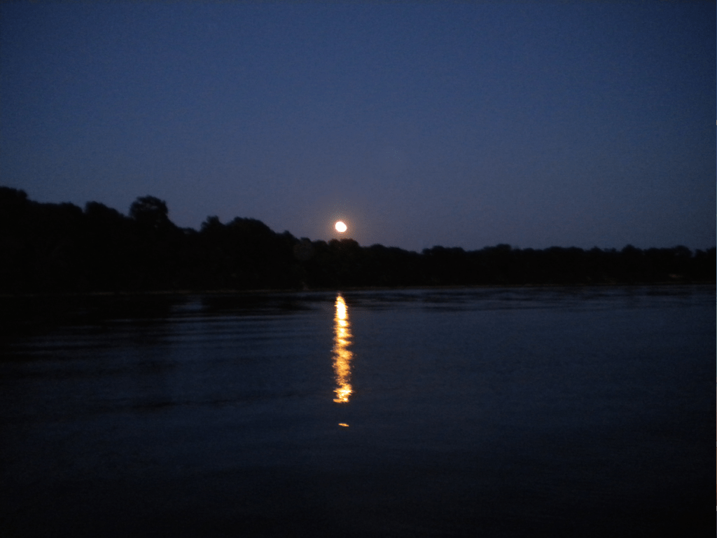 Blue Moon on Worley Creek