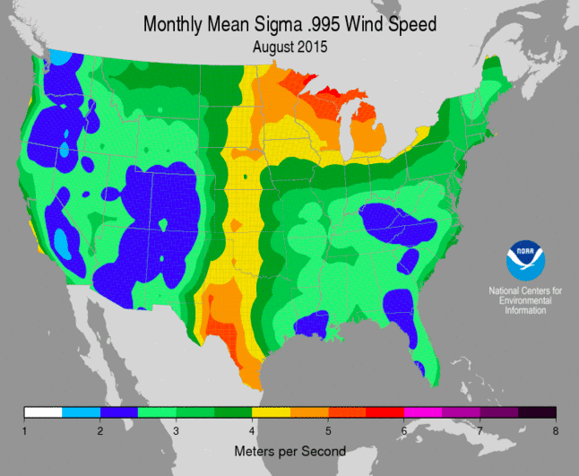 NOAA wind map 2015
