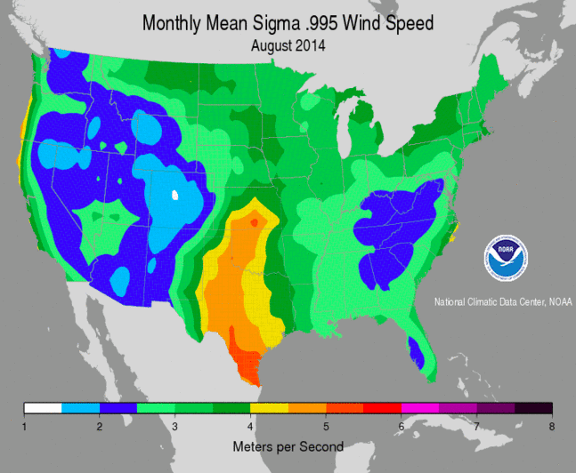 NOAA wind map 2014