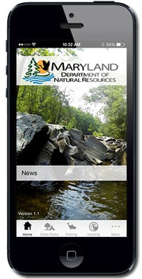 Maryland DNR iPhone app