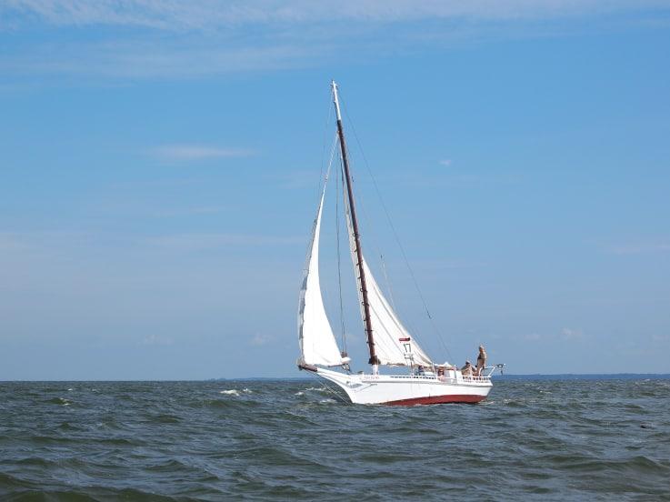 Chesapeake Bay skipjack-style sailboat