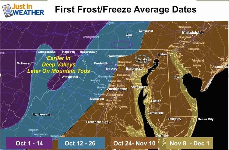 Justin Berk Fall Frost map