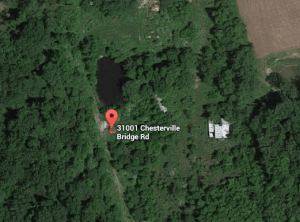 Google satellite image of pot growing area near Chesterville