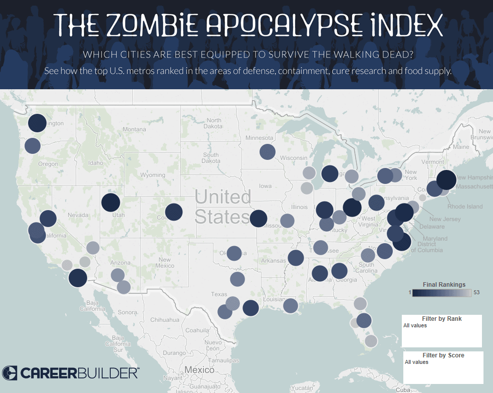 Where to survive a zombie apocalypse? Baltimore & Norfolk ... on