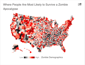 Zombie survival rate map
