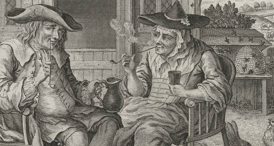 "Photo courtesy Historic London Town & Gardens -- Image detail from ""Old Darby and Joan,"" 1759, The Lewis Walpole Library."