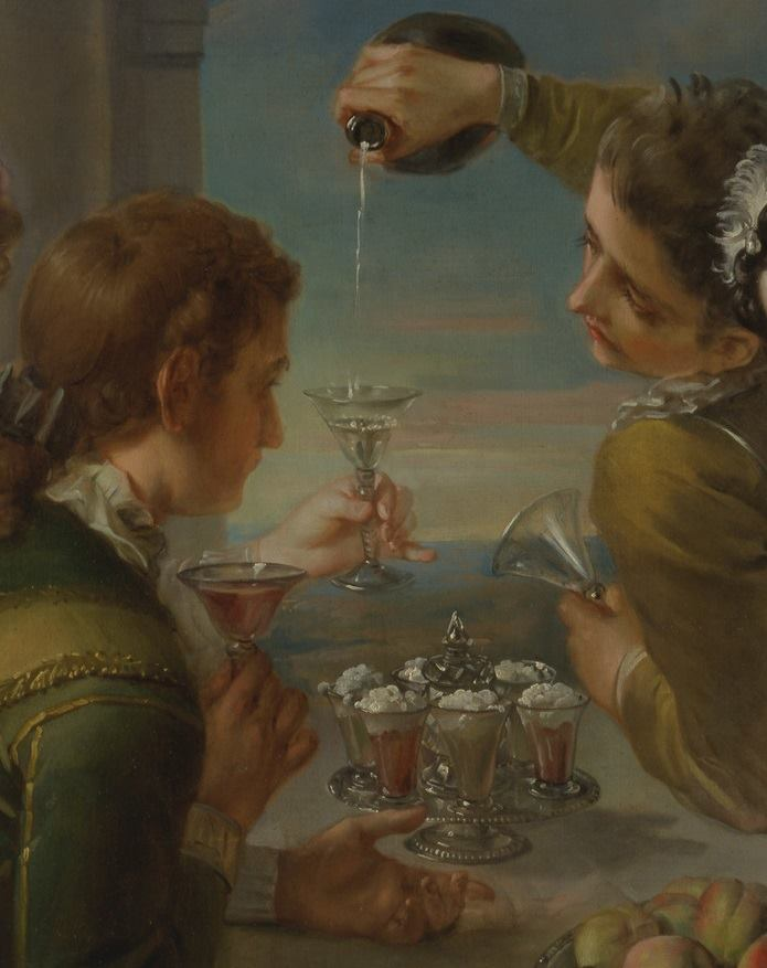 "Photo courtesy Historic London Town & Garden -- Detail from ""The Sense of Taste,"" Philippe Mercier, 1744-1747, Yale Center for British Art."