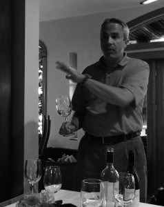 Christopher Stagnitta explains wine at a Maryland wine tasting
