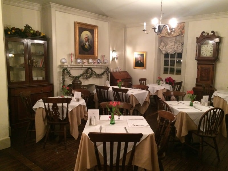 The upstairs restaurant at Reynolds Tavern. The second floor is a B&B, and in the basement (former kitchen) is the pub.