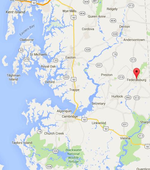 Federalsburg, Maryland map