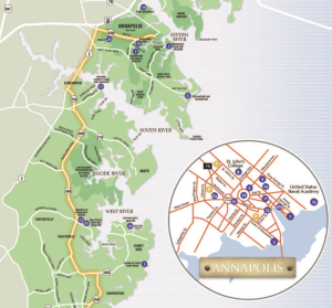 Maryland Day Map of Anne Arundel County