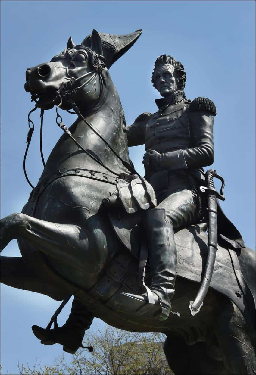 Photograph of Andrew Jackson statue in Lafayette Park in Washington, D.C. Photo Credit: Chris Taylor, Department of the Treasury