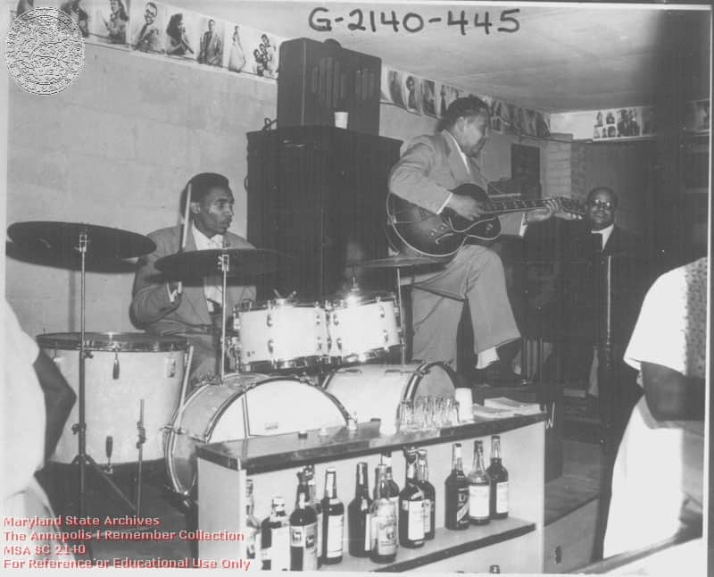 Bengazi Room at Carr's Beach in 1958 with Wild Bill performing (Photo courtesy Maryland state archives)