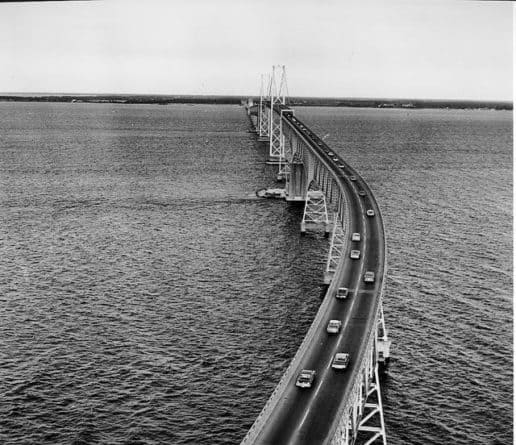 Historic photo of Chesapeake Bay Bridge