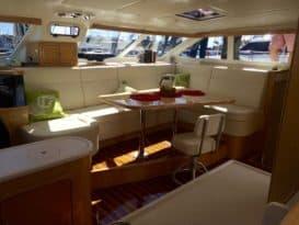 St. Francis 50 catamaran cabin