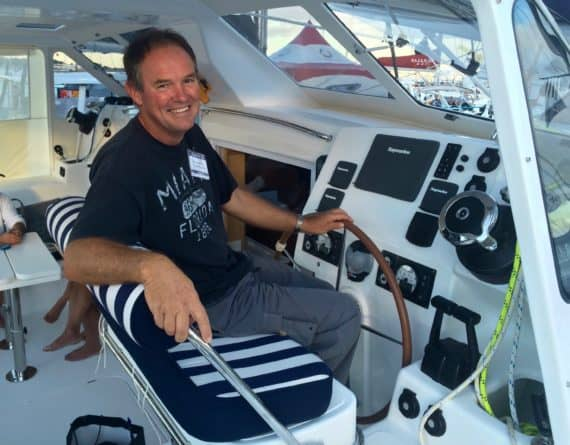 Captain Graham Coleman on a St. Francis sailboat