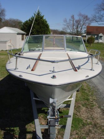 A 23' Chris Craft donated to the Chesapeake Bay Maritime Museum in St. Michaels, MD