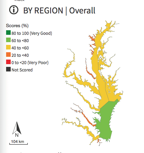 "Chesapeake Bay ""Eco Health report card"" for 2016"