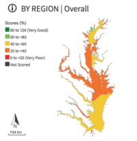 Graph of overall Chesapeake Bay health in 2007