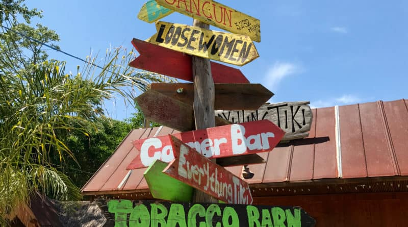 The Tiki Bar sign in Solomons Island, MD
