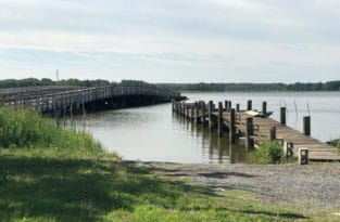 Eastern Neck Island narrows bridge in the Chester River