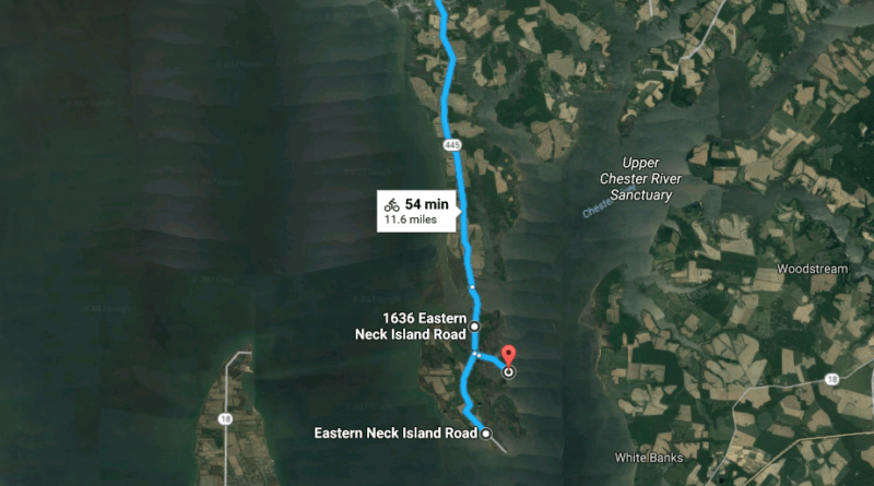 Cycling Rock Hall -> Eastern Neck Island: Overview