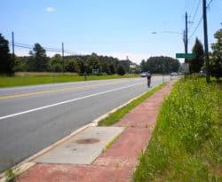 Bike lane into St. Michaels, MD