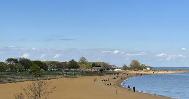Sandy Point Beach in Annapolis, Maryland