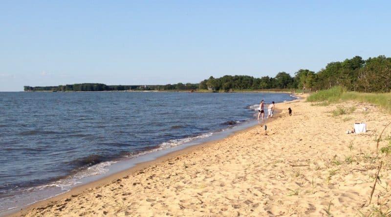 Terrapin Park beach on Kent Island in Maryland