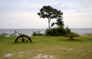 Point Lookout State Park water front facing the Chesapeake Bay