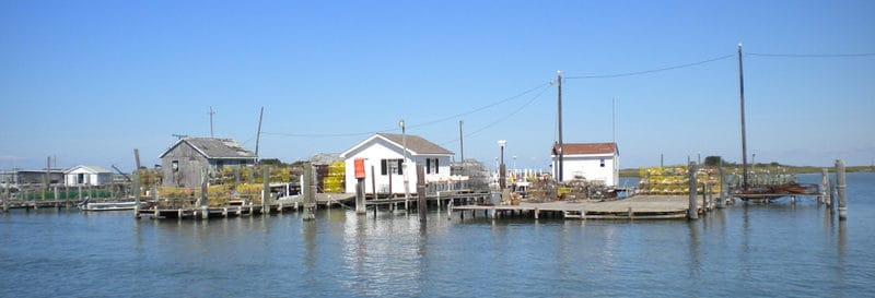 Tangier Island watermen shacks