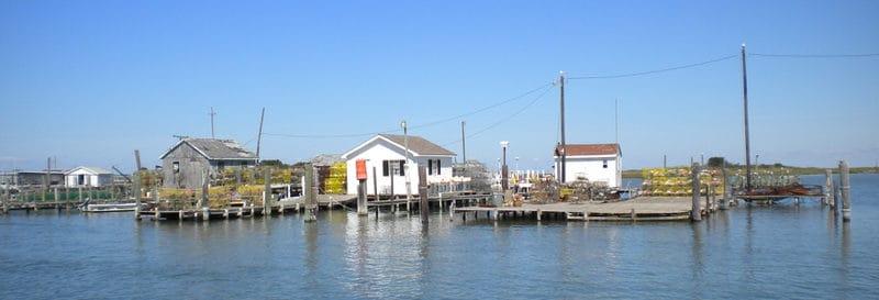Tangier Island watermen shacks
