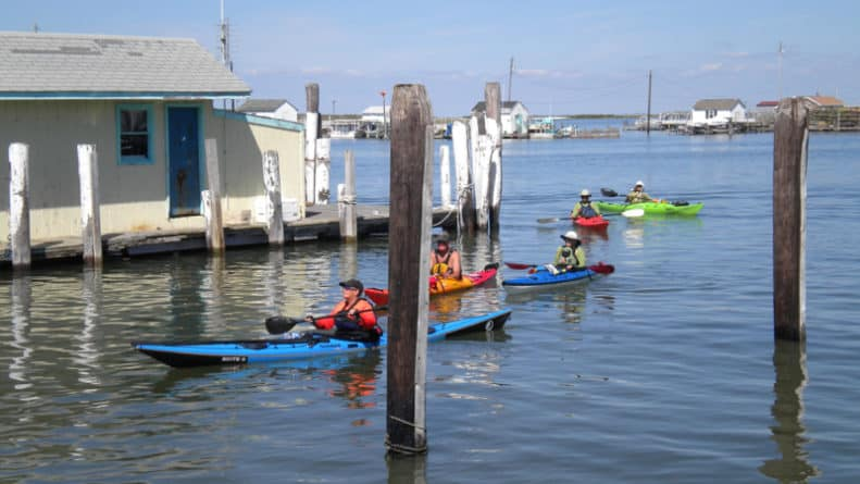 Tangier Island kayakers
